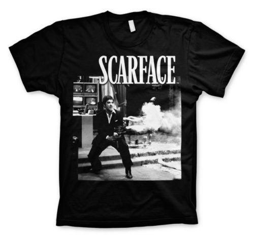 Cartel oficial de Scarface Gangster Movie T-Shirt Hombres Mujeres Unisex camiseta de moda Envío gratis negro