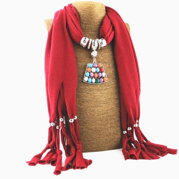 Özel özgün tasarım mücevher kolye eşarp takı eşarp saçaklı tatlı bayan lüks kolye şal