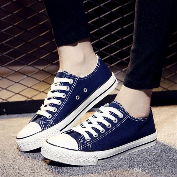 2019 primavera / verão das mulheres sapatos casuais sapatos de lona de moda respirável tamanho plana das mulheres 34-41