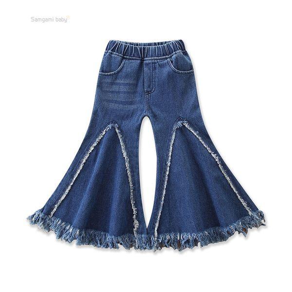 retail Baby Girls Tassels flare Pants trousers Denim Jeans Leggings Tights Kids Designer Clothes Pant Fashion boutique Children Clothes