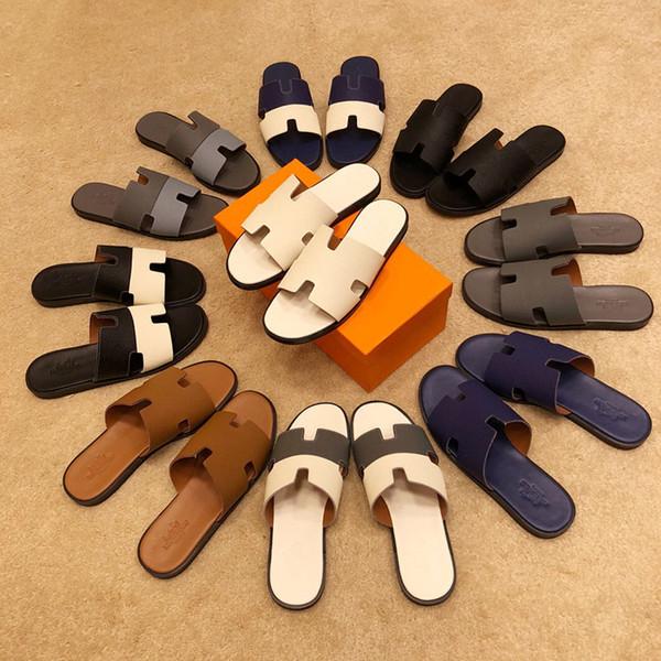 High quality men's designer slippers 2019 Luxury Designer Men's Shoes Street Fashion Men's Outdoor Sandals For men with box size 38-45