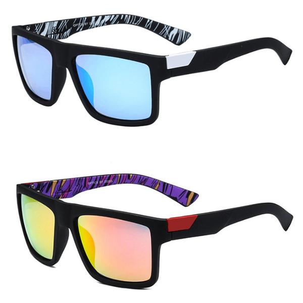 MARQUE Nouveau 2018 Classique Polarisé Lunettes De Soleil Hommes Conduite Cadre Carré Lunettes De Soleil Masque Hommes UV400 Gafas Eyewears Accessoires