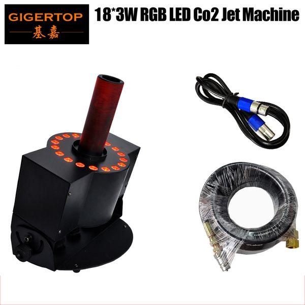 top popular Hi-Quality LED 18 x 3W CO2 Jet Machine Tricolor LED CO2 Jet Stage DMX CO2 Jet Machine Stage Equipment Effect Lights 2021