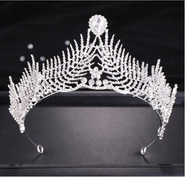 style coréen couronne couronne strass bandeau coiffe de mariée