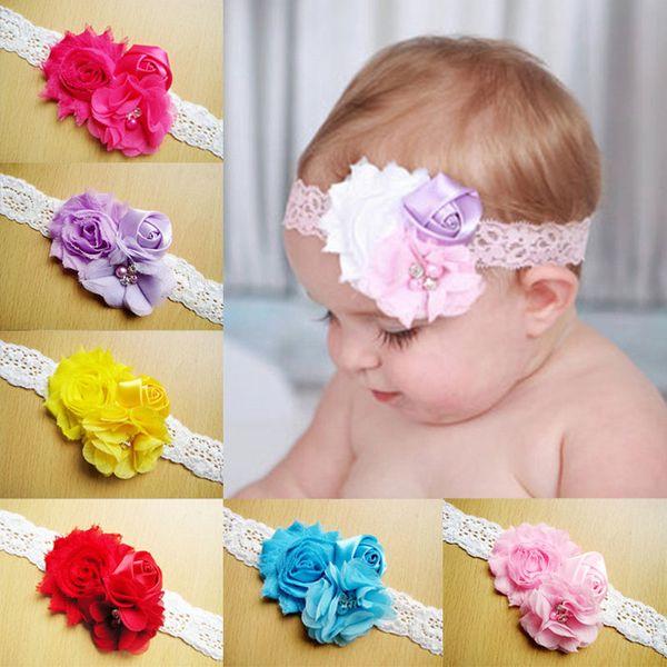 Infant Kids Baby Girl Flower Elastic Headband Hair Band Headwear Scrunchie  Rope