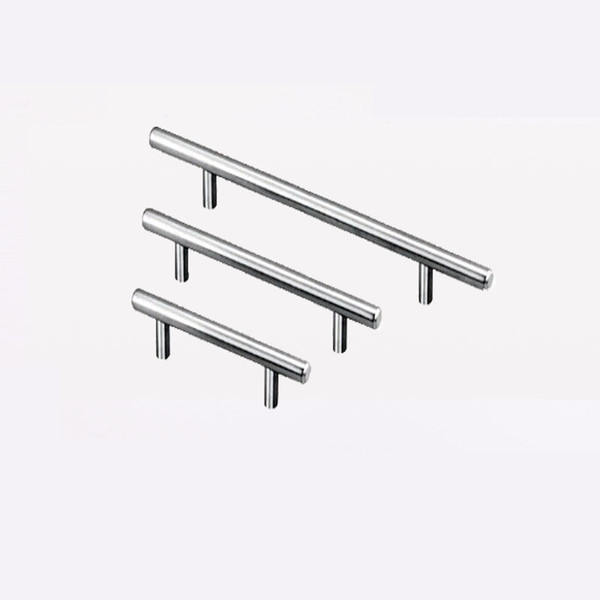 best selling T Type Handles For Cupboard Door Drawer Wardrobe Shoe Cabinet Pulls Stainless Steel 3 Size Universal zhao