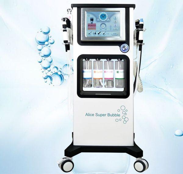 top popular Glow Skin 7in1 Alice super Bubble Facial Hydra Dermabrasion Water Peel facial whitening Beauty Skin Machine 2020
