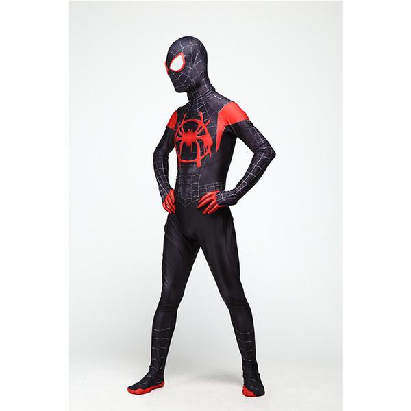 Örümcek adam Yetişkin erkek giyim cadılar bayramı tema cosplay süper kahraman maske Popüler film Sıkı bodysuit