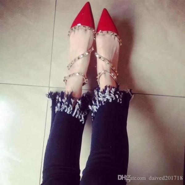 Yeni Marka Tasarım Şık Kadın Sivri Patent Deri Ayakkabı Ile Çift Toka Düz Ayakkabı seksi sıcak kız Parti Ve Günlük Düz ayakkabı