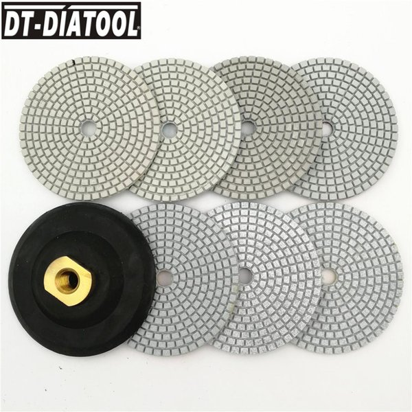 2019 Dt Diatool Diamond Wet Or Dry Polishing Pads 100mm Resin Bond Sanding Discs Terrazzo Floor 4inch Granite Polisher M14 From Miaotang 44 39