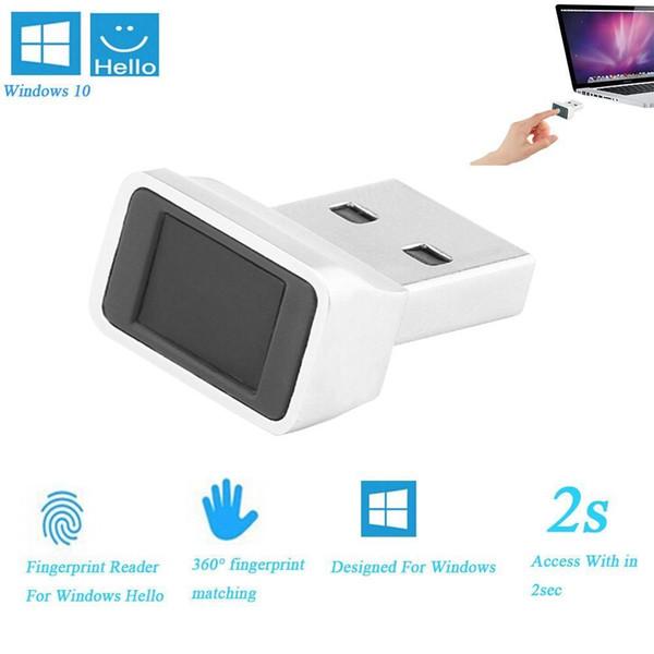 Mini módulo de lector de huellas dactilares de aluminio para Windows 8, Windows 10 Escáner Sensor Dongle Instant Touch Módulo de acceso