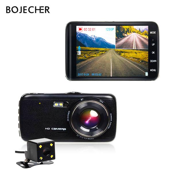 BOJECHER 4,0 pouces voiture DVR caméra FHD 1296P double lentille Dash Cam caméra de vision nocturne ADAS AFIL Video Recorder Auto Registratore