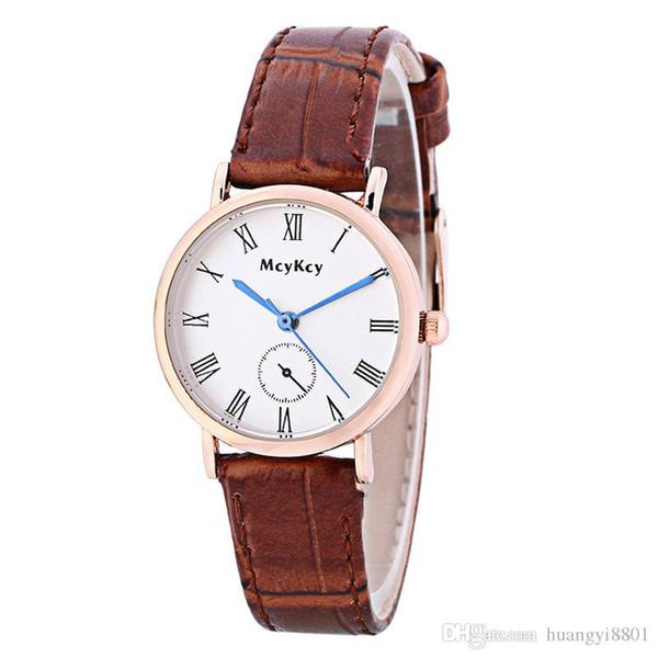 Женские Часы Роскошные Кожаные Случайные Пара Часы Синий Простой Кварцевые Наручные Часы Бизнес Часы Бесплатная Доставка Продажа