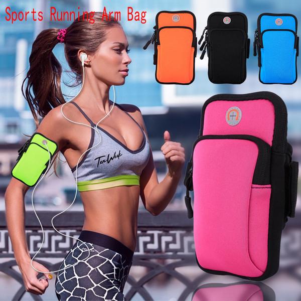 Cep Cep Telefonu Kol Çantası Band İçin Kılıf Kol Çantası Spor Yoga Çanta Egzersiz Kol bandı Tutucu Pounch Running Iphone 678plus Su geçirmez Spor