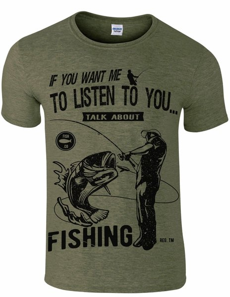 Fishing humour men`s t shirt talk about fishing carp angling gift Funny free shipping Unisex Casual gift