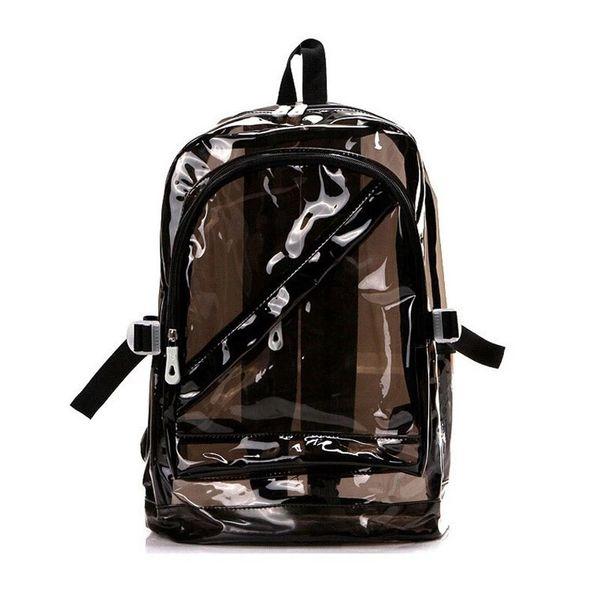 Rucksäcke Kleine Gelee Strandtasche Transparent Durchsichtigen Kunststoff Wasserdichte Rucksack für Teenager Mädchen PVC Schultaschen Schultern Tasche Freies ShippingB