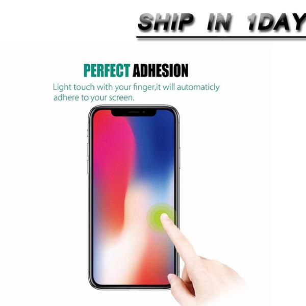 Für iPhone XS max 6,5 Zoll XR gehärtetes Glas Displayschutzfolie 0.3mmTreated Glas für iPhone 5 4 Samsung Galaxy S8 S5 Dhl frei SSC001