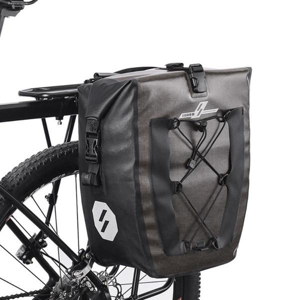 27L Wasserdichte Fahrrad Tasche Outdoor Rucksack MTB Rennrad Fahrrad Gepäckträger Pannier Radfahren Rear Seat Shelf Bag