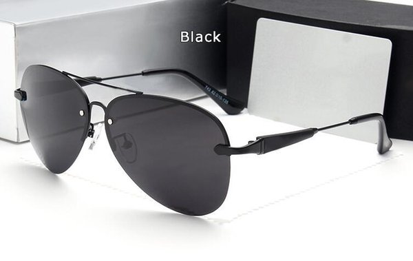 High quality new men's polarized sunglasses without box driving driving anti-UV strong frog mirror 743 with cases and box