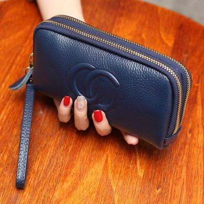 Frauen Geldbörsen designer marke Multifunktions echtes Leder frauen Lange Design Geldbörse Weiblichen Kartenhalter Lange Dame Clutch Geldbörse iphone halter