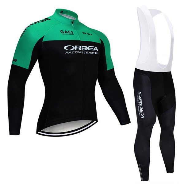 Orbea 2019 autumn spring Breathable cycling jersey long sleeve pro bike bib pants set Ropa Ciclismo mens cycle wear bicycle Maillot 121802Y