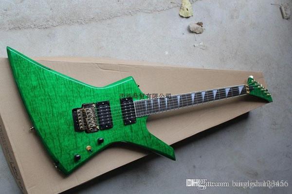 2013 Hot Guitar Shop Personalizado Rosewood Jackson Guitarra Verde Azul 6 Cordas Guitarra Elétrica frete grátis Atacado