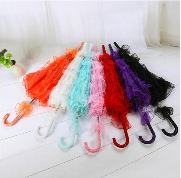Classic Multi color Wedding Lace Umbrella Decoración Niños Escenario Proyecto de Danza Umbrella Film Studio Performance Ornamento Prop