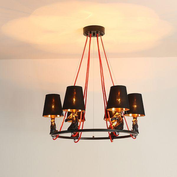 Einfache Schwarz Kronleuchter Eisen Lichter Kronleuchter Pendelleuchte für Schlafzimmer Restaurant Beleuchtung Kerze Hauptbeleuchtung Neue Leuchten