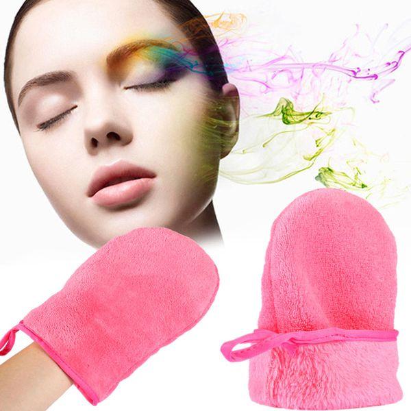 top popular Makeup Removal Microfiber Glove Reusable Microfiber Facial Cloth Face Towel Makeup Remover Facial Washing Cleansing Glove 2021