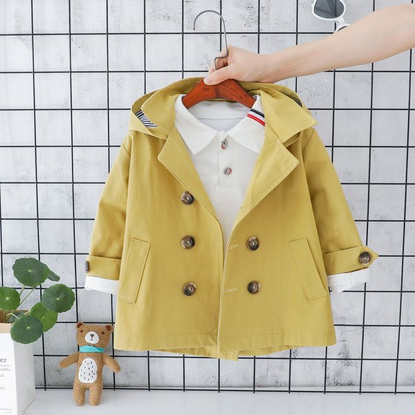 Kids Baby Boys Girls Coats Little Toddler Clothes Autumn Fashion Long Sleeve Cotton Casual Hoodies Outerwear Jackets Tops