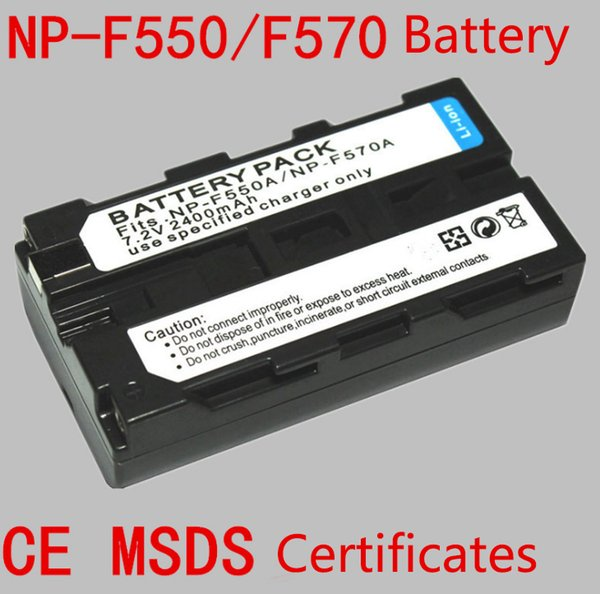 Wholesale Photo Lamp NP-F550/ NP-F570 Camera/ LED Lamp / Monitor Battery 2400 mah rated capacity 7.2V standard Voltage