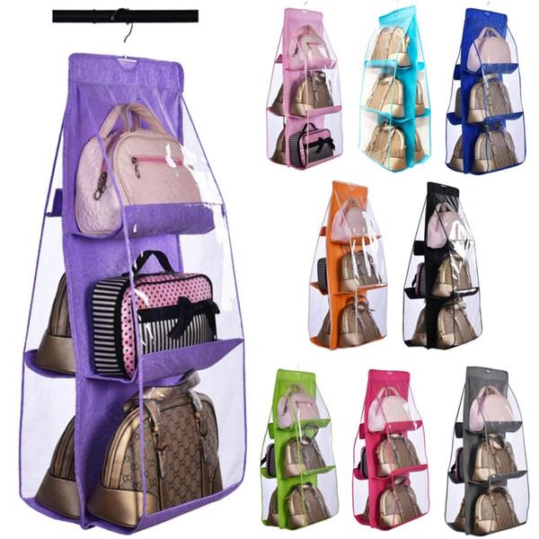 Home Furnishing Behind door Wardrobe Garage 360° degree hook Double-sided 6-layer High-capacity Multi-function Storage dustproof bags.