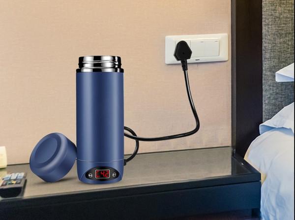 Compre Taza Eléctrica De Agua Caliente Portátil De Viaje Mini Calentador Eléctrico Hervidor De Agua Caliente Fuente De Alimentación De Baja