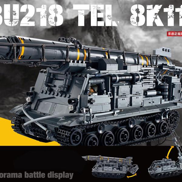 EM ESTOQUE Xingbao 06005 1750Pcs Série Militar A 8U218 TEL 8K11 conjunto de construção Blocos Tijolos `s do menino educacionais presentes brinquedos modelo
