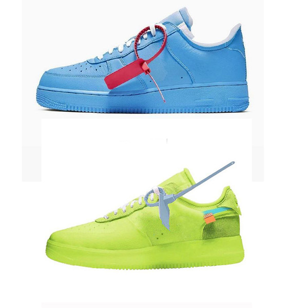 Yeni Gelenler Kuvvetler Volt Koşu Ayakkabıları Kadın Erkek Eğitmenler Zorla Bir Spor Kaykay Klasik 1 Yeşil Beyaz Siyah mavi Savaşçı Sneakers