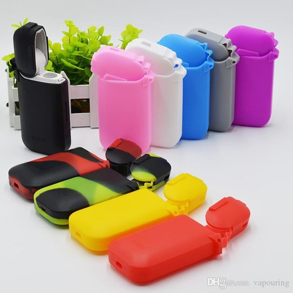 Colorful IQOS Silicone Rubber Sleeve Protective Anti Scratch Cover Skin Case Bag For IQOS Electronic Cigarette Hot Sale DHL 1