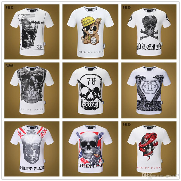 Men's Crowned Skull T-Shirt Men Tshirt Short Sleeve Print Casual Breaking Bad Print T Shirt For Men 2018