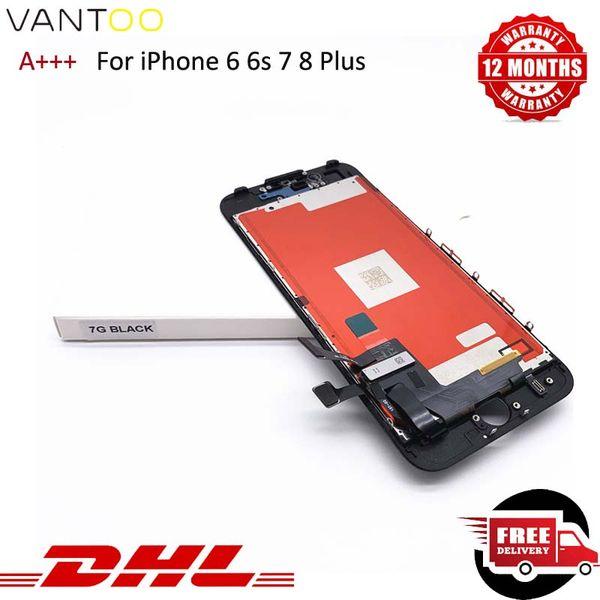 Alto brillo del LCD para el iPhone 6s reparación de la pantalla iPhone de reemplazo 7 8 Toque la asamblea de pantalla digitalizador 100% Probado