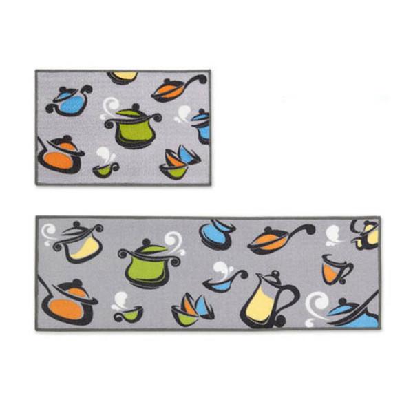 Washable Modern Bathroom Carpets Anti-slip Mediterranean Kitchen Mat Entrance Doormat Bedroom Office Chair Area Rugs