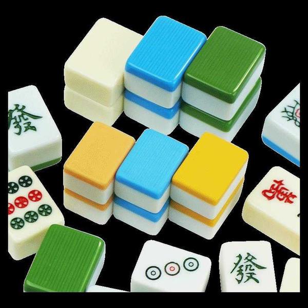 Freies Verschiffen Mini Mahjong Haushaltshandschellen klein 20cm Cartoon Kristall Kleines Mahjong Kind intelligentes Spielzeug Heim Tasche Spiel Mahjong