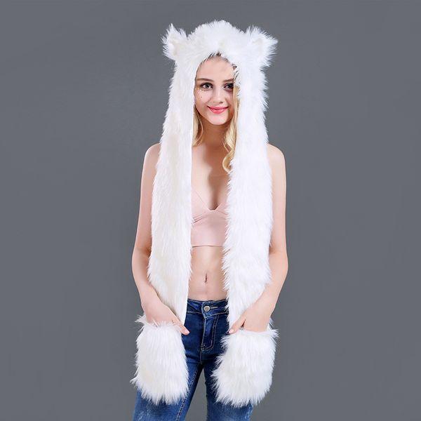 renard blanc de fourrure 100c m