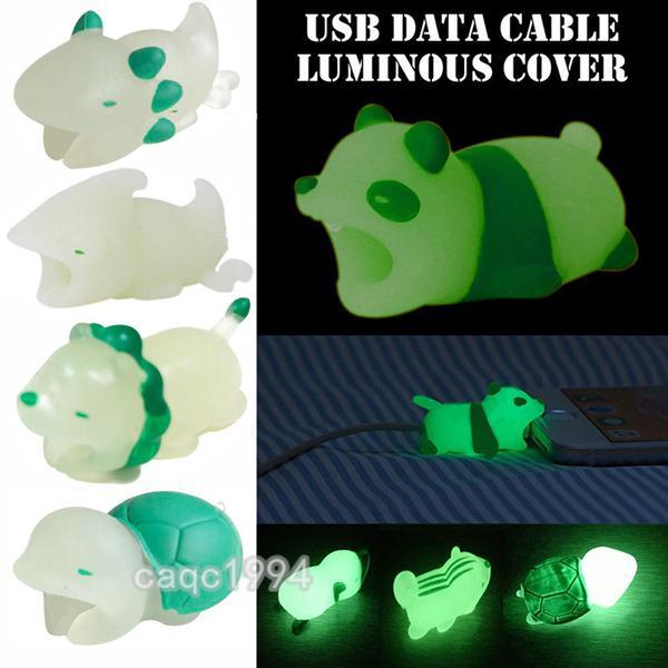 новый световой кабель укус зарядное устройство протектор Смак крышка телефона для iPhone молния милый дизайн животных зарядный шнур защитный DHL