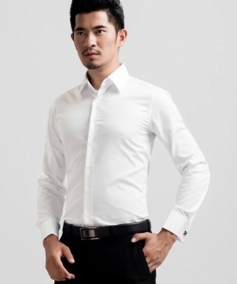 New LS187 mangas longas 2019 Outono casuais homens camisa mangas compridas sólidos dos homens cor da camisa magro os dos homens