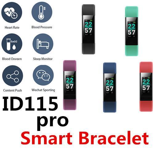 ID115 Pro Smart Bracelet Bluetooth 0.96 TFT LCD color screen Waterproof IP68 Control photo dial Multi-sport mode Heart Rate Spinning bike