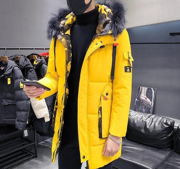 Katı Plus Size M-4XL Windproof Yeni Moda Erkek Aşağı Ceket Casual Kalın Lüks Coat Tasarımcı Kış Ceket Parkas Açık Sıcak