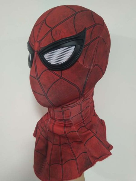 Cosplay homecoming Spider-Man Spider Helmet spiderman homecoming Spider-Man Faceshell With Lenses&Fabric spiderman mask