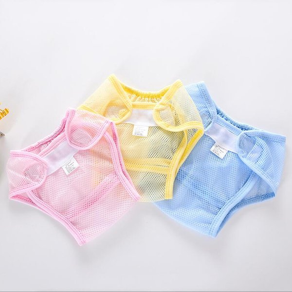 Baby Cotton and polyester Diapers Cover Cloth Mesh cloth Breathable Reusable baby Diaper Covers pants kids Bread pants MOQ 50Pcs S19JS202