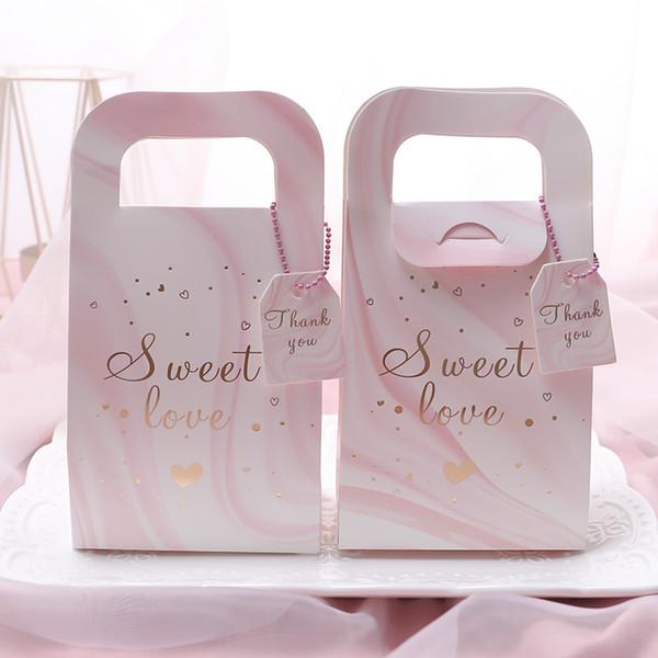 Marmo grano contenitori di caramella di zucchero Bag Fiore Foglia sacchetti dell'imballaggio bomboniera Moda creativa 0 45nz UU