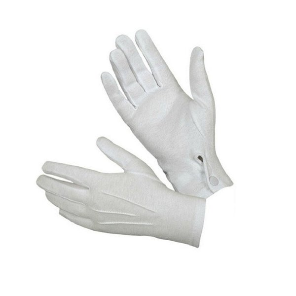 2018 New Fashion White Formal Gloves Tuxedo Honor Guard Parade Santa Men Inspection Cotton Free Shipping