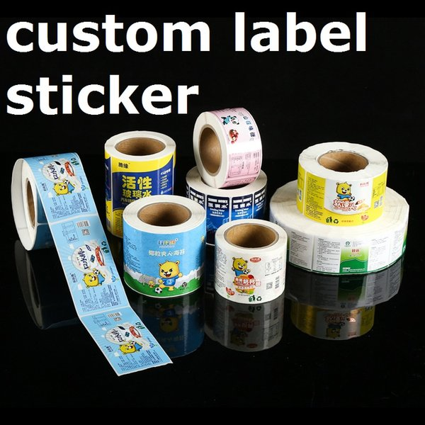 Full color glossy custom transparent label sticker, vinyl hologram sticker printing with wholesale